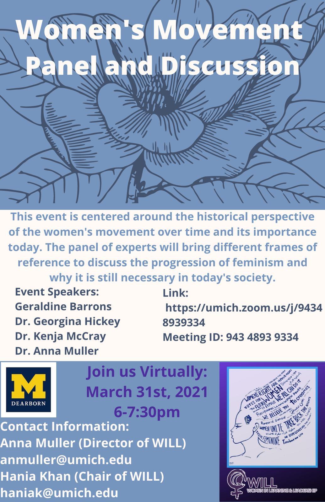 Women's Movement Panel Flyer